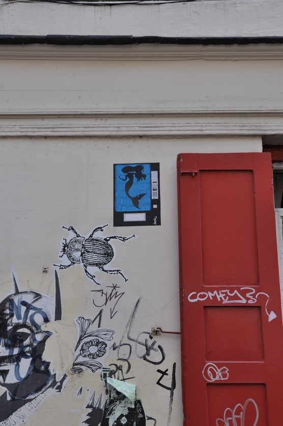 London, street art, Shoreditch, guided tour, graffiti,  Megzany, stencil, paste up, phone box