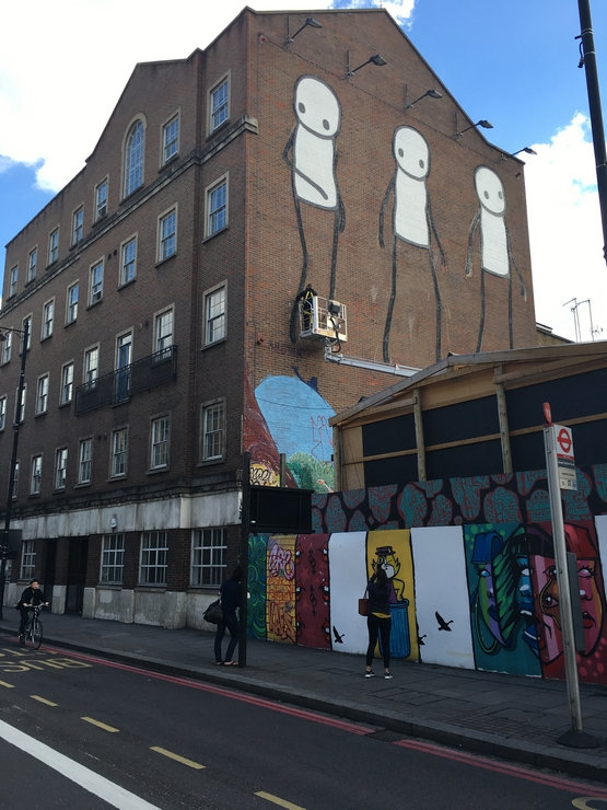 London, Street art, Stik, shoreditch, gentrification, mural, permission,