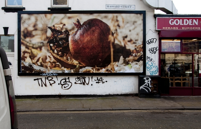 London, Shoreditch, art, flyposting, Mustafa Hulusi, Cass Bank Gallery, retrospective, street art,