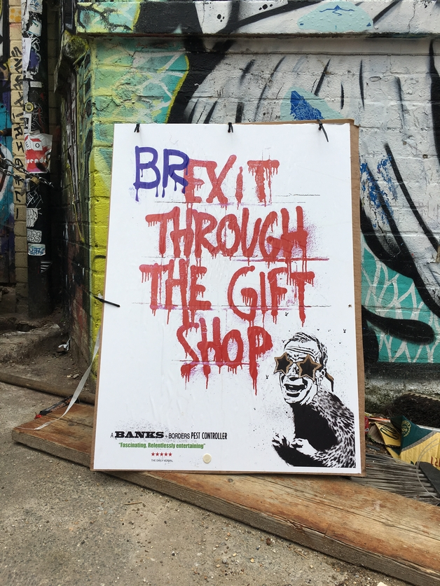 London, Shoreditch, Street art, tours, guided, guide, Brexit, Political street art,