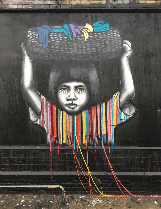 London, Street Art, Victoria Villasanna, Zabou, Child Labor Free, Freenet, Political, Shoreditch Art Wall