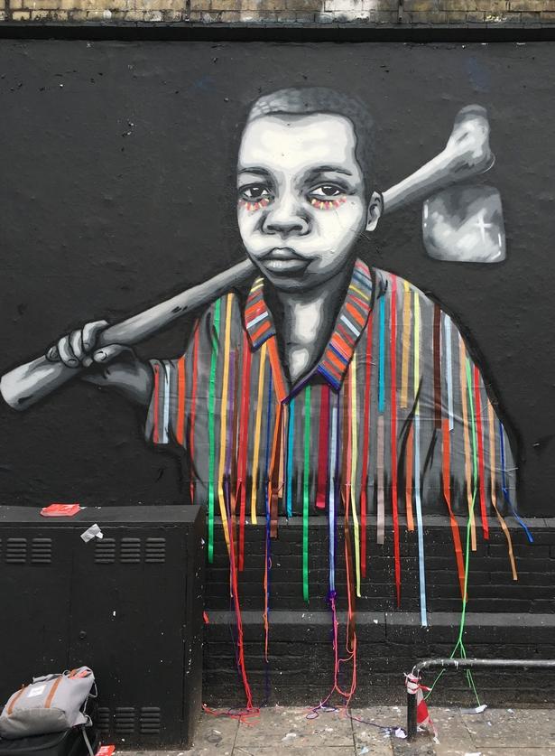 London, Street Art, Victoria Villasanna, Zabou, Child Labor Free, Freenet, Political, Shoreditch Art Wall