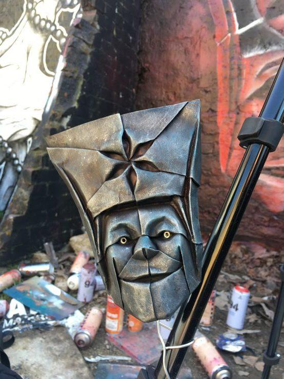 Shoreditch, London, Airborne Mark, The Pilot, Street Art, Graffiti, origami, origami riots, maquette,