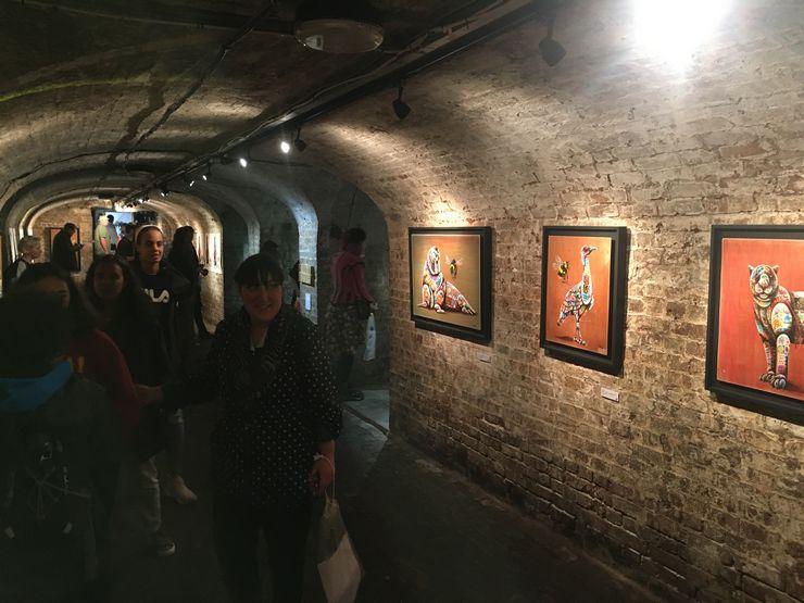 Louis Masai, street artist, environmental art, Environmental awareness, exhibition, Crypt Gallery, St Pancras church, Save The Bees, extinction