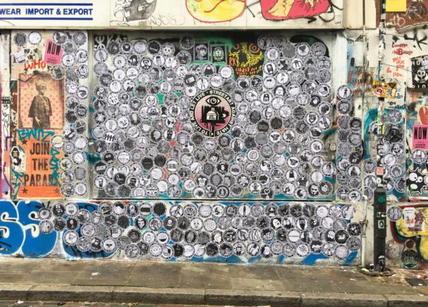 London, Shoreditch, Street Art, Streetart, Mural, paste up, gun control. anti hate, no hate, nohate, Live And Let Live, Streetart Against Hate