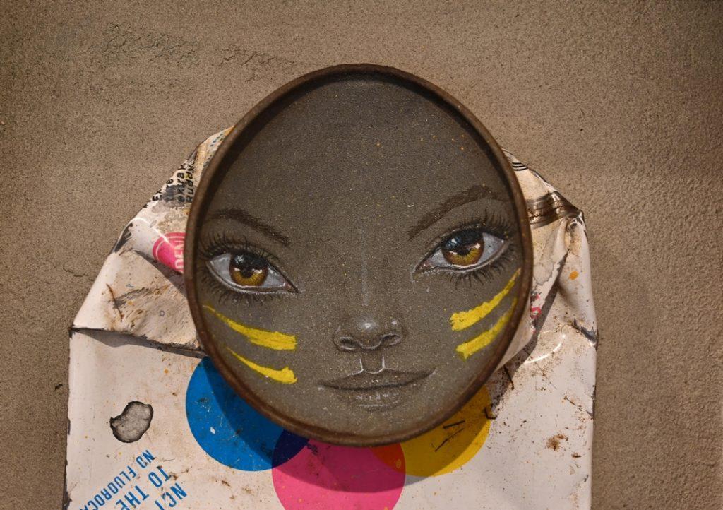 MyDogSighs, Streetart, Urbanart, Gallery, Shoreditch, NellyDuff, photorealism, spraycans, Krylon, Rustoleum, waterdrops, eyeballs, walkingtours, streetarttours