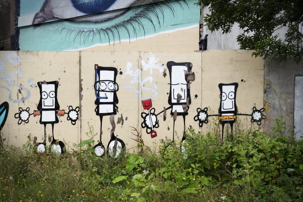 MY Dog Sighs ooutdoor character painting in Southsea